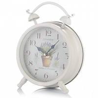 "Часы в виде будильника ""Лаванда"" 21 см метал"