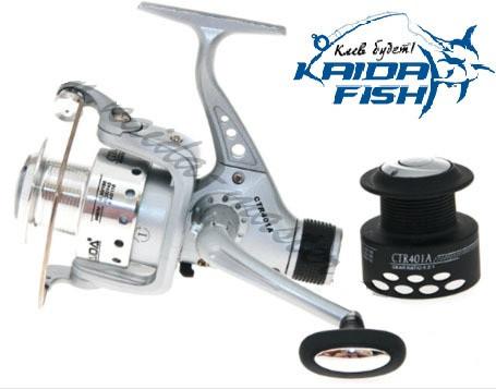 Рыболовная безынерционная катушка Kaida CTR-405A-5BB с передним фрикционом