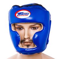 Шлем боксерский закрытый Twins 475 (синий, р.L)