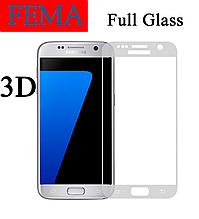 Защитное стекло Fema 3D 9H на весь экран для Samsung Galaxy S7 G930F прозрачное