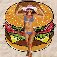 Покрывало плед пляжный Гамбургер