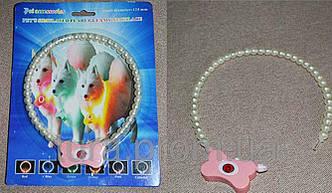 Светящийся ошейник для собак ожерелье из жемчуга для кошек и собак Маленький