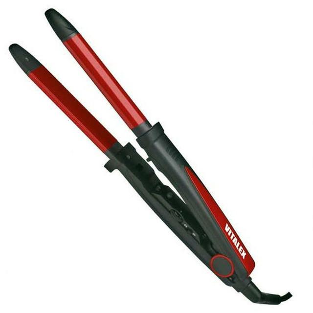 Выпрямитель для волос Vitalex VT-4025 + плойка ( 33 мм ) щипцы для укладки волос ( Виталекс )