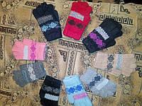 Детские перчатки из ангорки