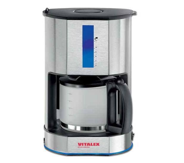 Кофеварка Vitalex VL - 6002 фильтрационного типа кофемашина 1,5 л (12-15 чашек) ( Виталекс )