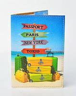 """Обложка для паспорта из эко-кожи """"Страны"""""""