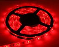 Светодиодная LED лента 3528 Красная 60 12V без силикона