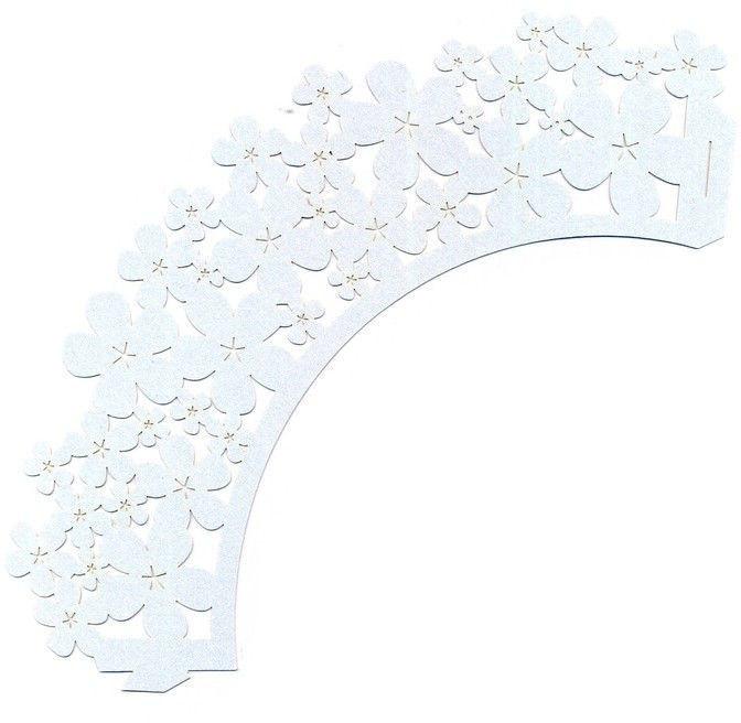 Накладка декоративная Empire ЕМ 0378 ажурная для маффинов ( 1 уп. - 20 шт )