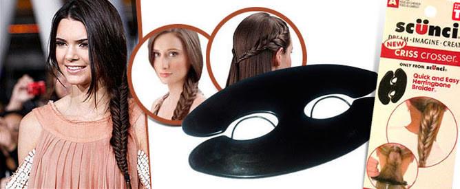 Держатель для быстрого плетения косы Scunci Criss Crosser устройство держатель для плетения