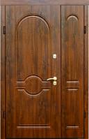 Входные стальные двери ТМ Страж Модель 54 Винорит дуб тёмный Мультлок