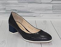 Лодочки. Английский каблук. Натуральная кожа. Туфли женские 0129