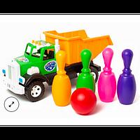 Детская машина-грузовик с кеглями 019-3, Бамсик