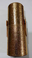 Тубус для хранения кистей золотой