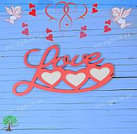 Фоторамка из дерева, подарок на день святого валентина, подарок на 14 февраля