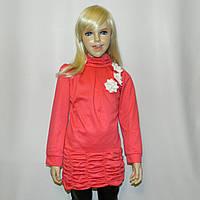 Платье для девочки. Туника с длинным рукавом 6-10 лет