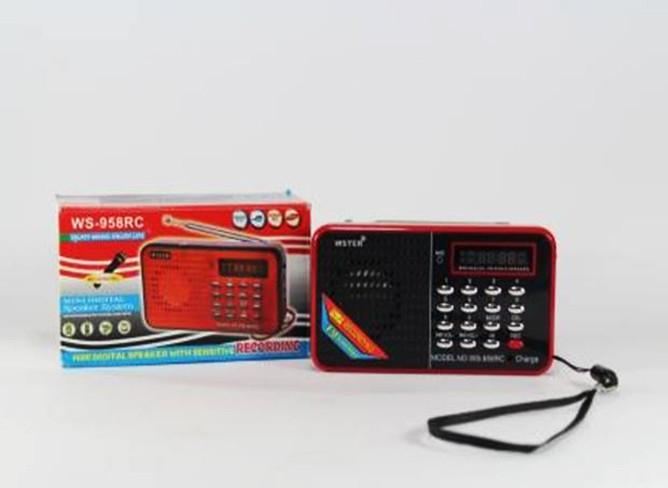 Компактная портативная колонка MP3 USB SPS WS 958 SD карт для мобильного подключения