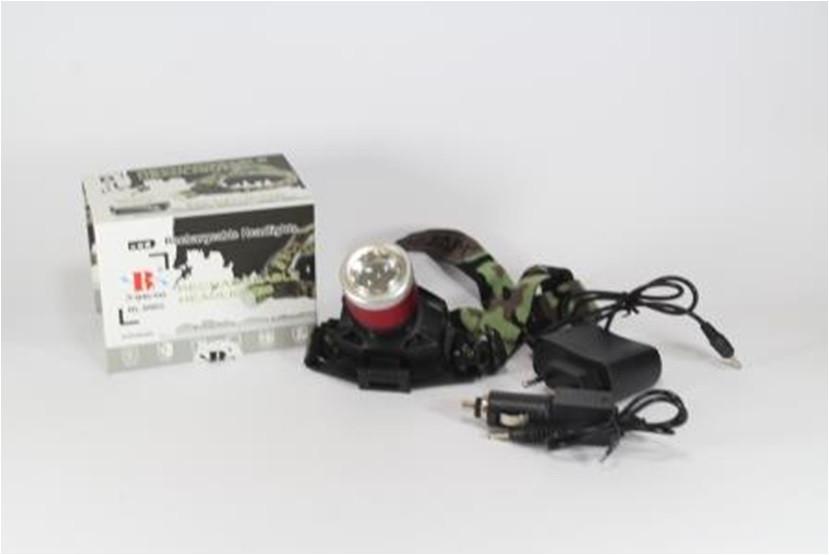 Фонарик налобный ультрафиолетовый Bailong BL 6902-2 светодиодный фонарь