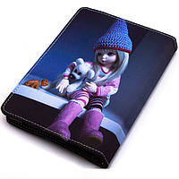 Чехол-книжка 7 дюймов с разворотом, уголки-резинка Кукла
