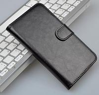 Кожаный чехол-книжка для Samsung Grand 2 Duos G7106 G7102 черный