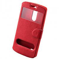 Чехол-книжка два окна LG G3 mini красный