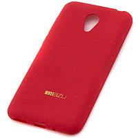 Чехол силиконовый Meizu M2 matte красный