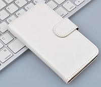 Кожаный чехол-книжка для Samsung Grand 2 Duos G7106 G7102 белый