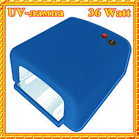 UV-лампа 36 W для Полимеризации Гелей, Гель-Лаков и Акрила, Цвет Синий