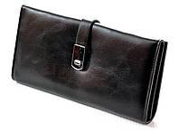 Женский кожаный кошелек клатч на магнитной застежке