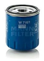 Фильтр масляный Mann W716/1 Citroen Peugeot Chevrolet Epica
