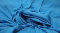 Креп-шифон однотонный голубая-бирюза