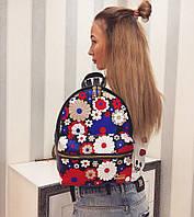 Женский красивый рюкзак с цветочным принтом