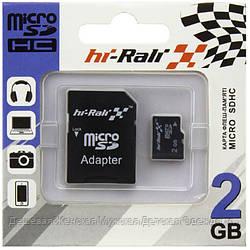Карта памяти micro SD HI-RALI 2GB с адаптером SD