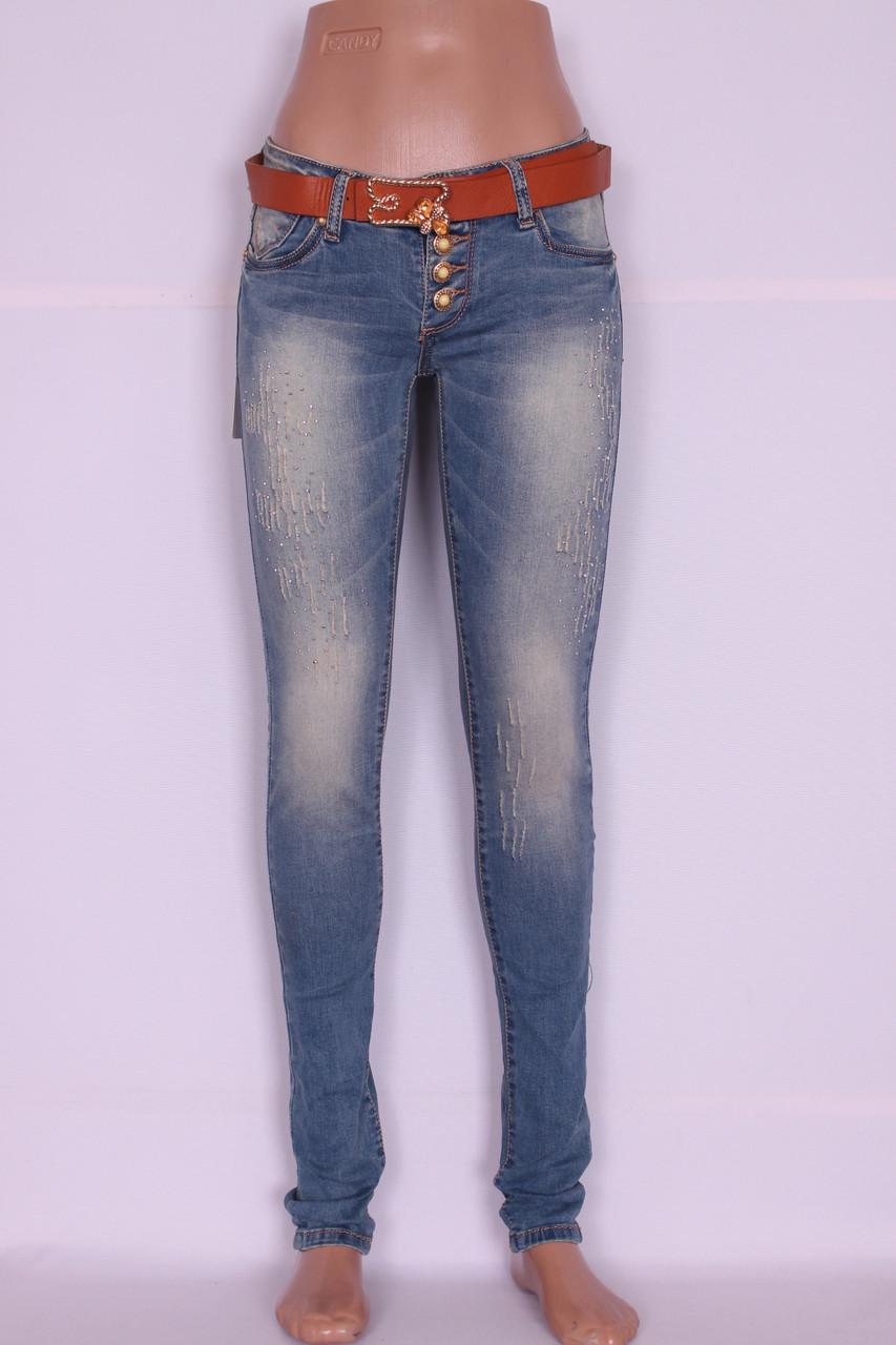Зауженные джинсы женские Cudi (код 9107)