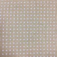 Ткань с мелкой белой точечкой (горошком) 1,5 мм на кофейном фоне, фото 1