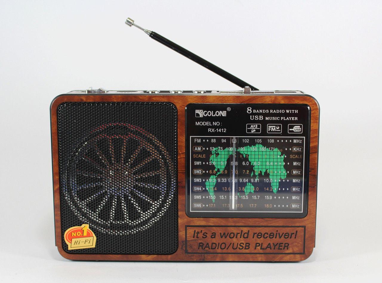 Радиоприемник Golon RX 1412 MP3 портативная колонка на аккумуляторе