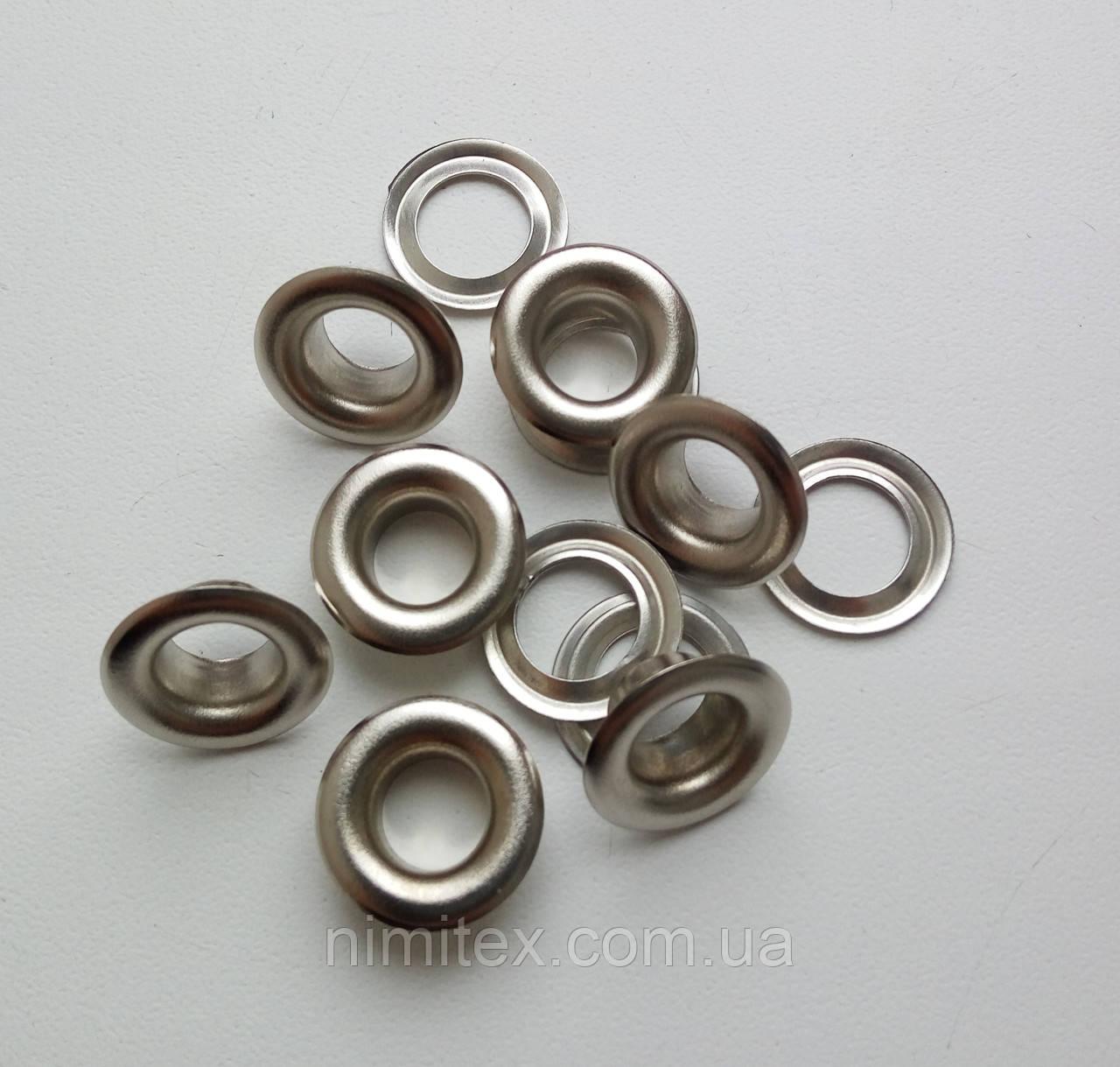 Люверс №5 - 7,5 мм (с шайбой) никель
