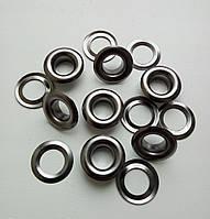Люверс №5 - 7,5 мм (с шайбой), черный никель