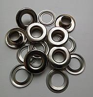Люверс №24 - 9 мм (с шайбой), нержавеющий, никель
