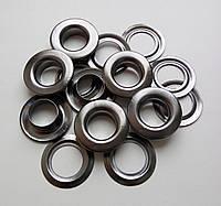 Люверс №28 - 13 мм (с шайбой) черный никель