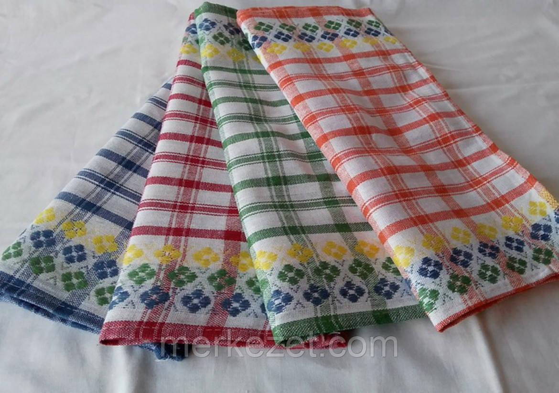 """Льняное полотенце для кухни """"Шотландка"""". Кухонные полотенце. Набор полотенец"""