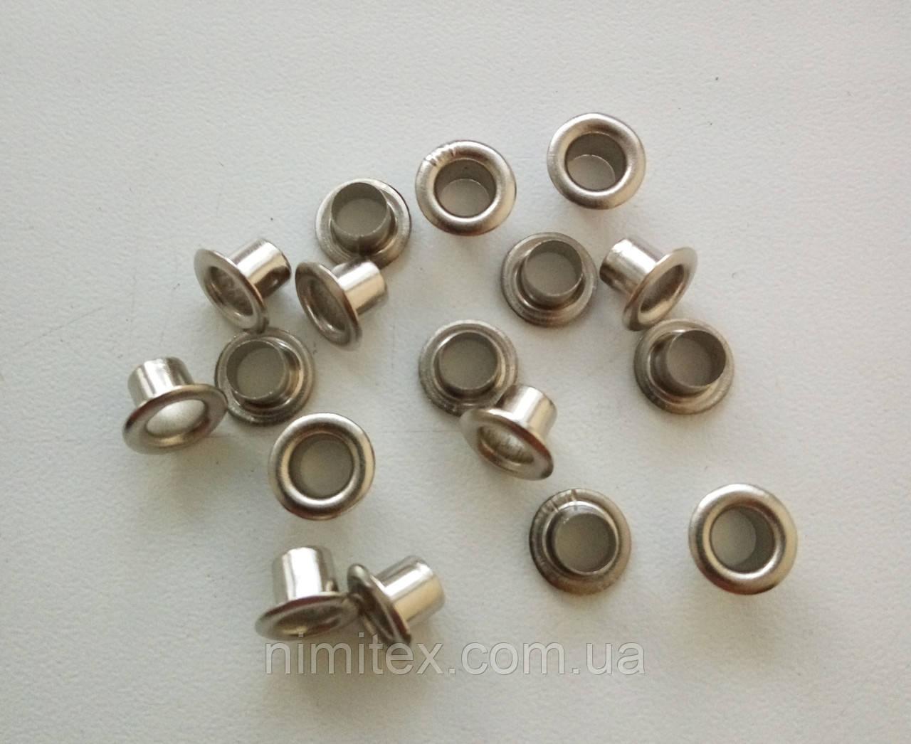 Блочка №2 - 4 мм (с шайбой), нержавейка, никель