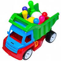 "Машина грузовик ""Алекс"" с кеглями 084, BAMSIK"