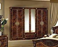 Шкаф в спальню 6Дв Рома 267х52х224 см. Клен, Корень