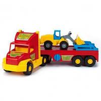 Детская Машина Грузовик Перевозчик с трактором Wader 36520, машинка перевозчик с трактором 36520