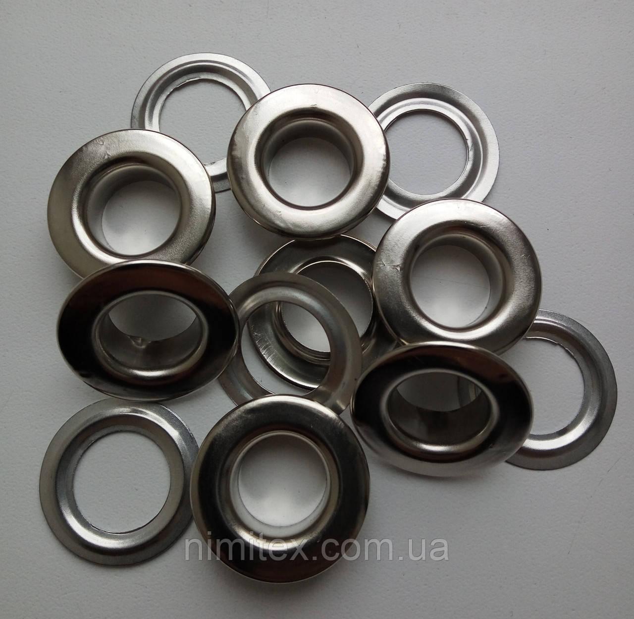 Люверс №28 - 13 мм (с шайбой) нержавеющий никель