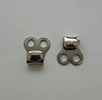 Крючок обувной штамповка, никель