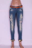 Укороченные джинсы женские (код BW6414)