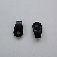 Петля обувная пластик, черный