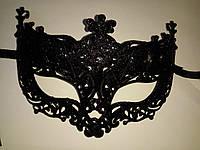 Маска карнавальная венецианская черная