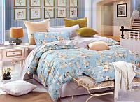 Постельное сатин двуспальный Евро ELWAY. Польша. Комплект постельного белья 220х240 см, 4189